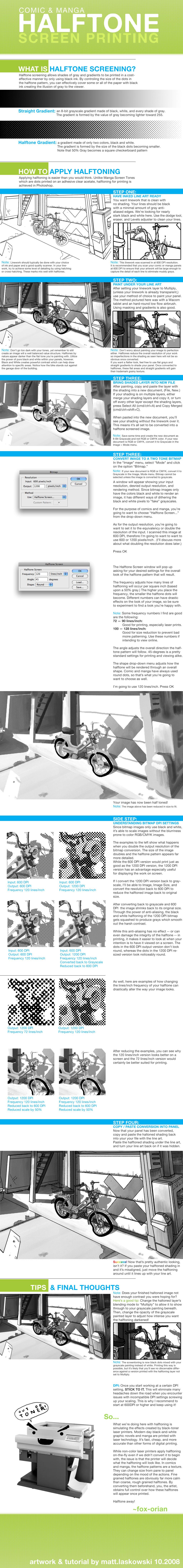 COMIC+MANGA Bitmap Halftoning by fox-orian