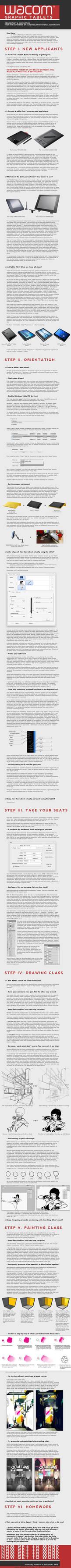 Wacom Starter's Guide 2011 by fox-orian