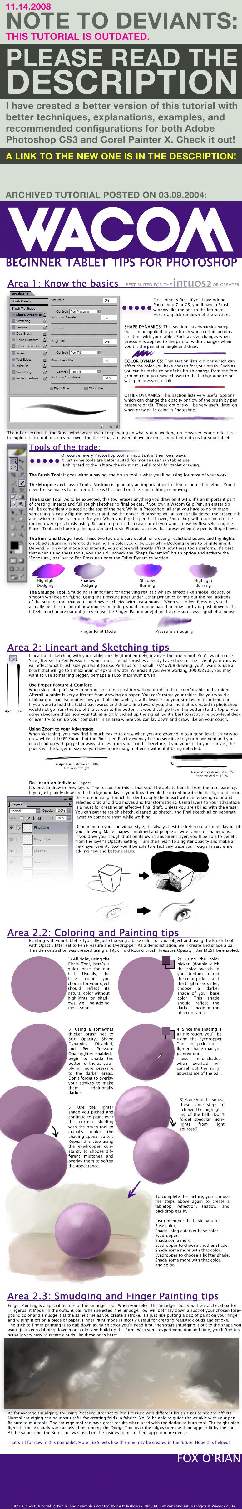WACOM Starter Tablet Tips 2004 by fox-orian