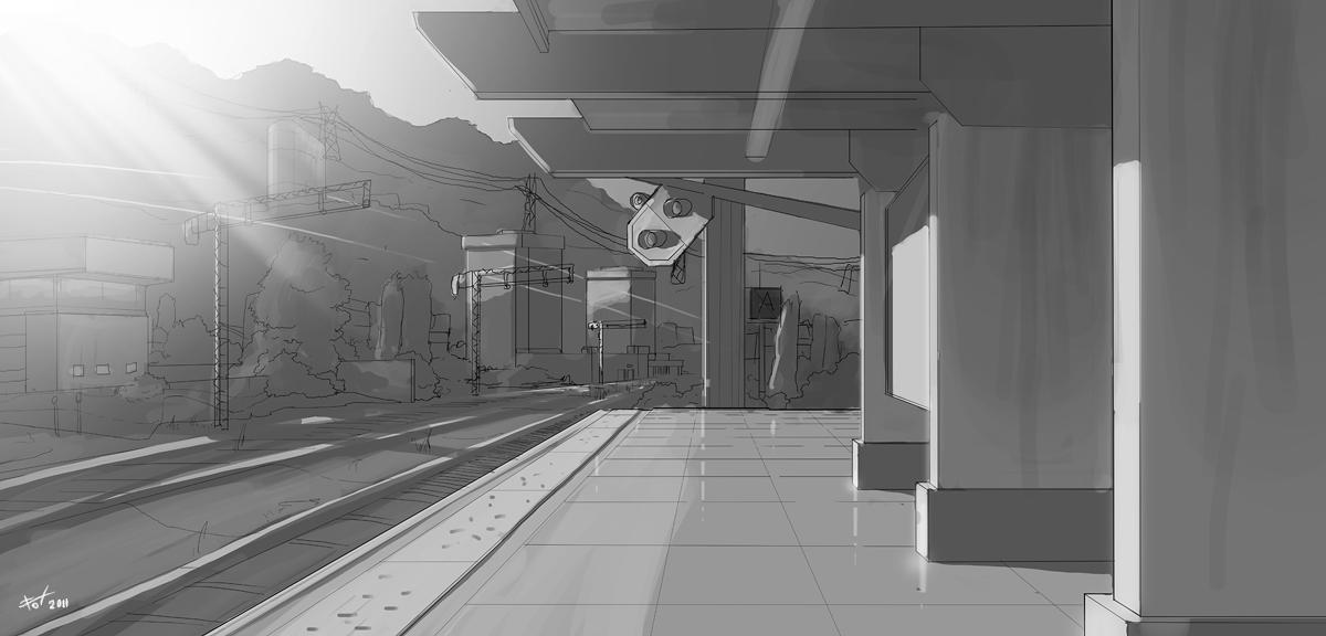 Trainstop Sketch by fox-orian