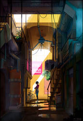 Entrance through the Back - Aricee Alley by fox-orian