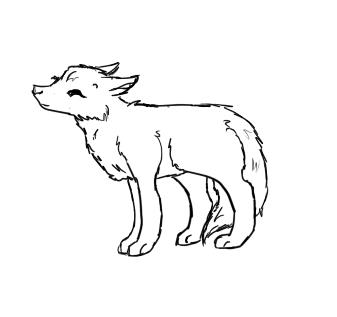Easy Baby Wolf Drawing