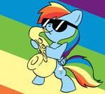 Rainbow Dash's Saxophone