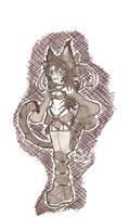 Neko girl for Starocean by Kiba-Incognito