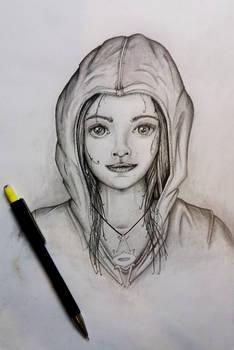 Woman Hood portrait