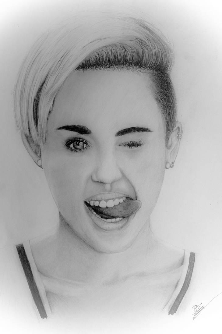 Miley Cyrus portrait by PlanetTzero
