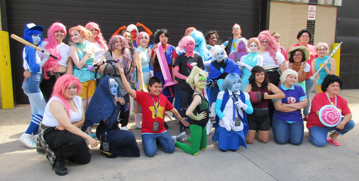 Always a large gathering - at any and all Steven Universe meetups! *universally popular* Our fellow deviant BeckyIronWorks is the (horned) Holly Blue; the baseball-bat-wielding Lapis [Bob...
