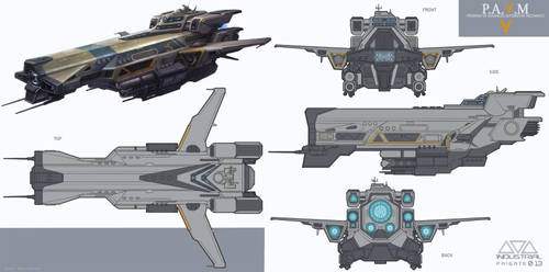 Industrial Frigate Orthographics