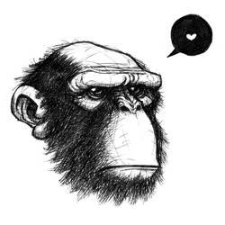 Bald Ape by tanqueta