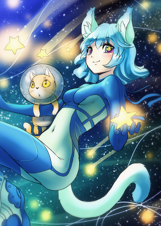 Cosmic cat by Hitana