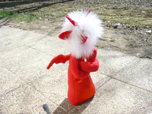 Nameless red fluffmonster sulks