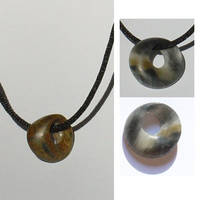 Soapstone mobius pendants by entanglement
