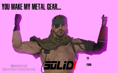 You Make My Metal Gear Solid! Valentines Day Card by TROLLESTACAT