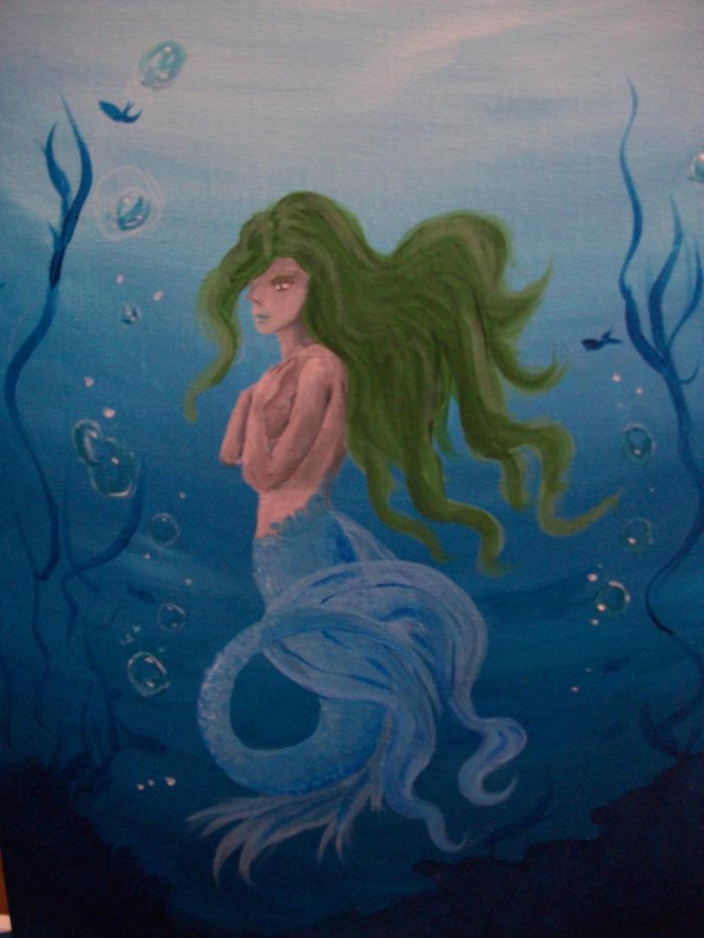 Blue Mermaid Redux by Roseprincess1