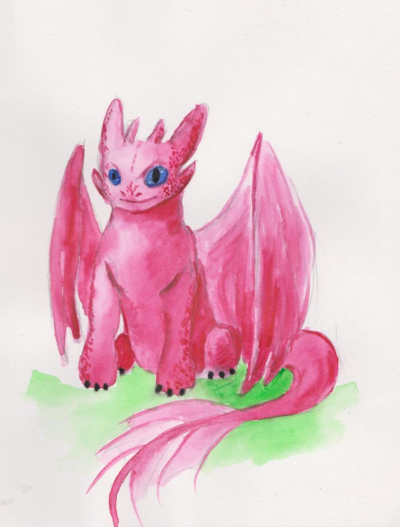 Pink nightfury by Roseprincess1