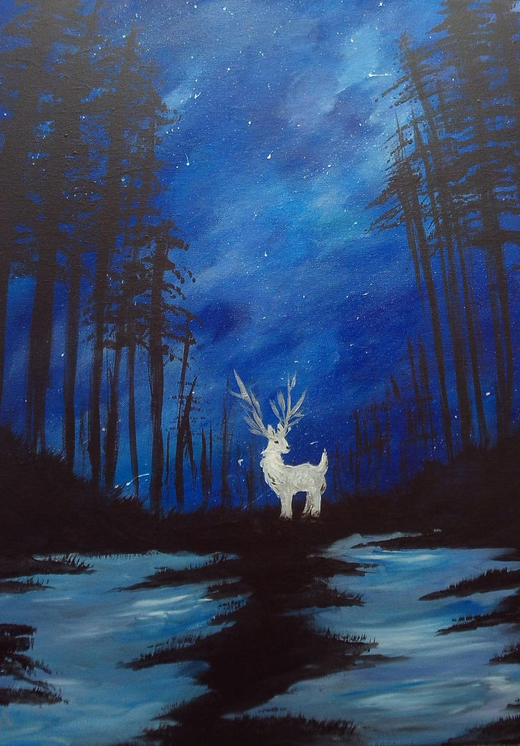 White stag by Roseprincess1