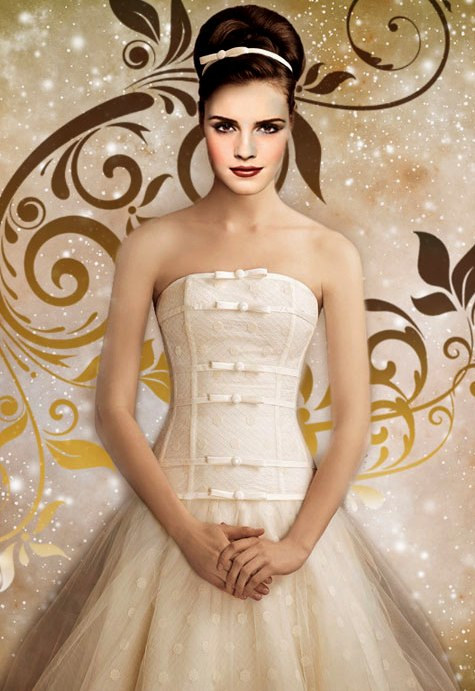 Beauty and the beast belle wedding dress