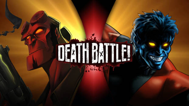 DEATH BATTLE IDEA #1: Hellboy VS Nightcrawler by LaughingXenn