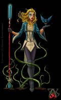 Commission Elf Druid Female by LRCommissions