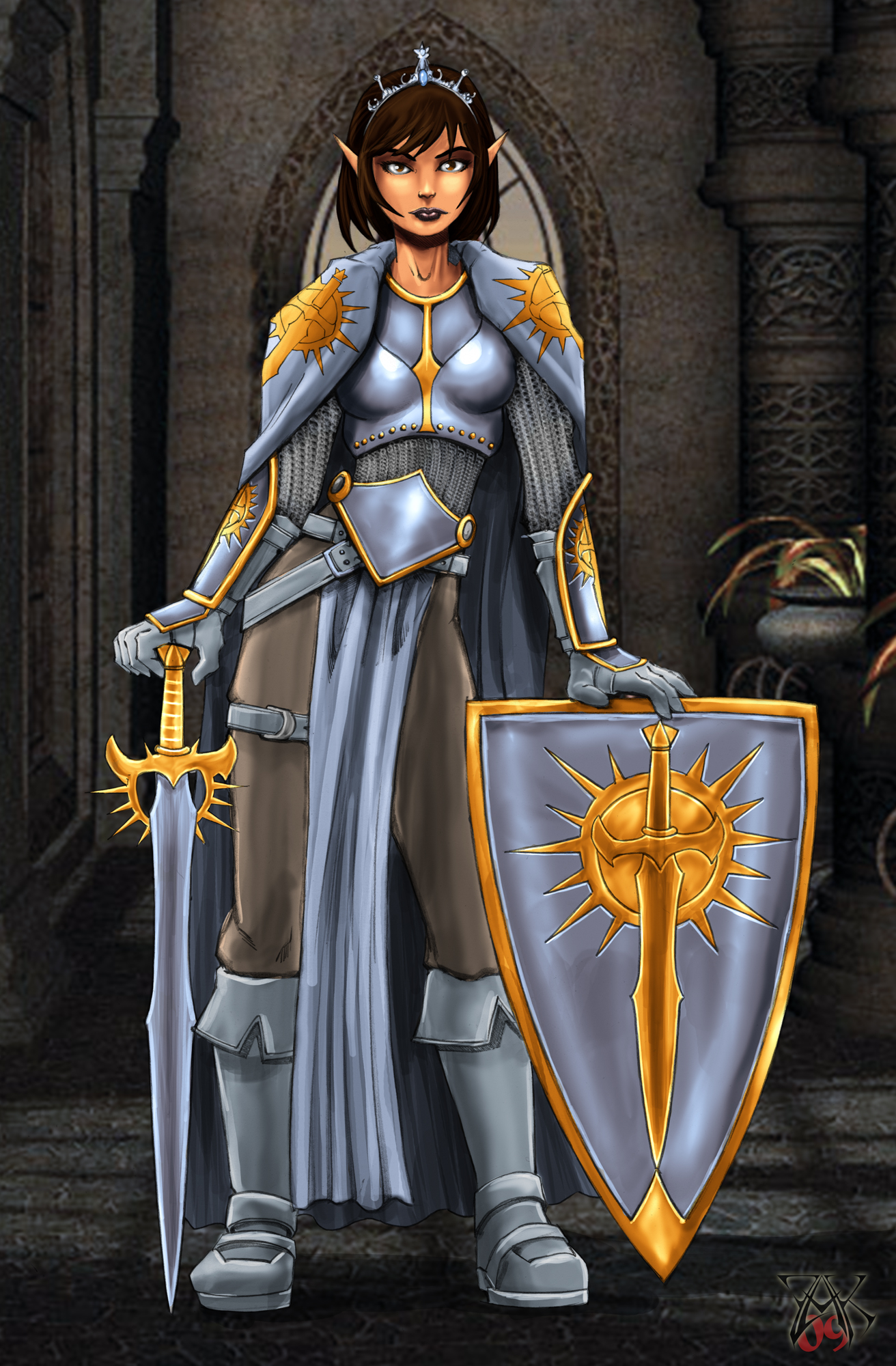 Commission Female Paladin by LRCommissions