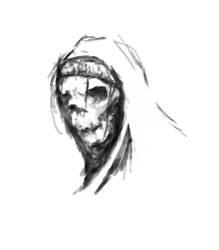 Street skull. Sketch by Meta-works