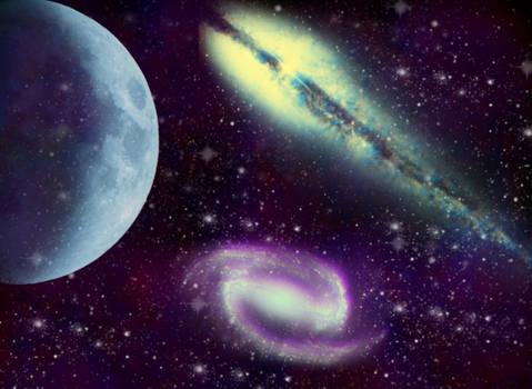 Espacio y luna