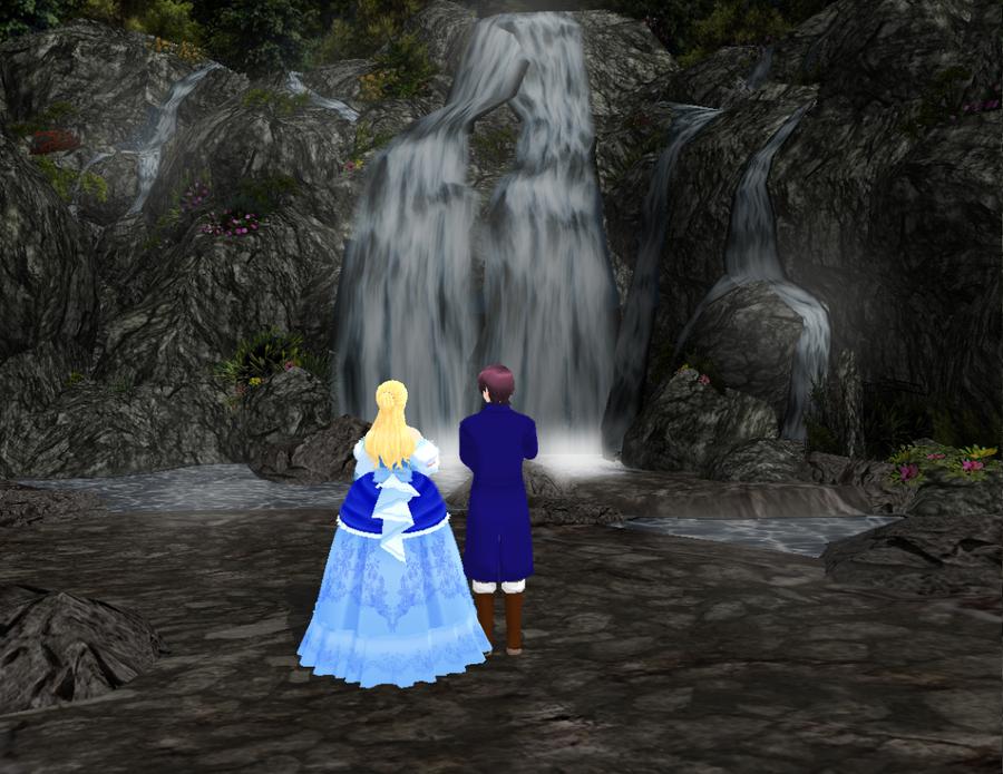 Walk through the waterfall by LunaNegra1949