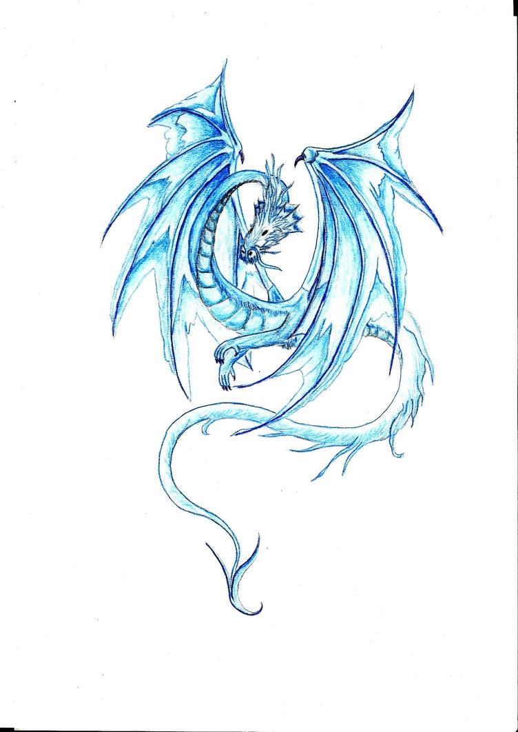 Dragon bleu by Cassyblue