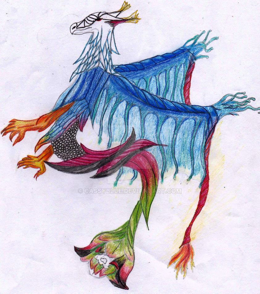 Dragon fleur by Cassyblue