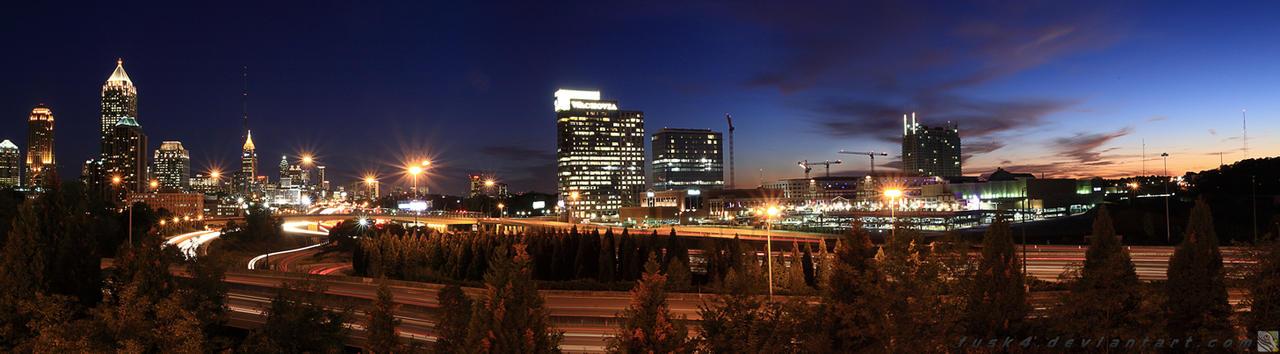 Atlanta NightSkyline Panoramic by fusk4
