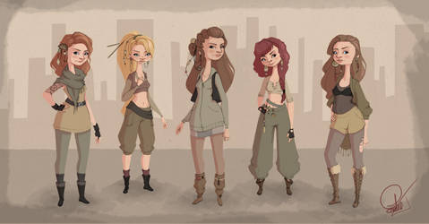 My badass friends by LeeBw