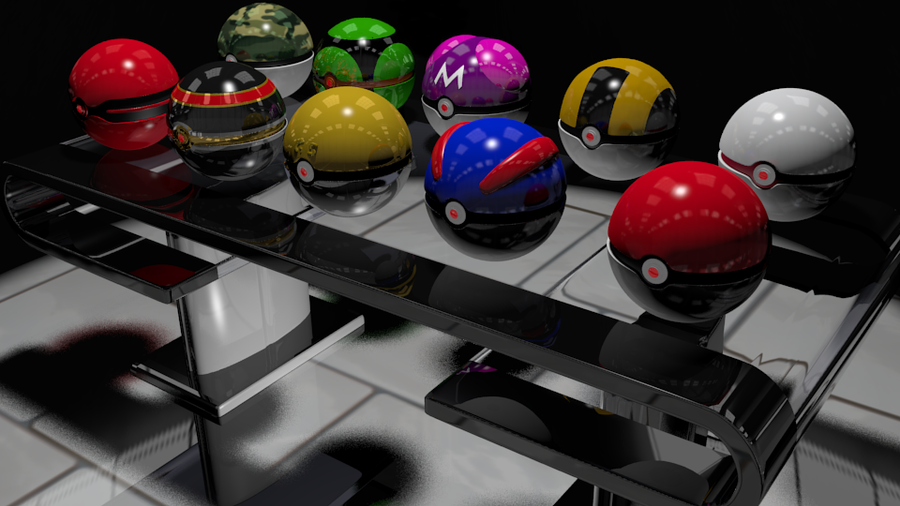 Pokeball table by BlazingEclipse8