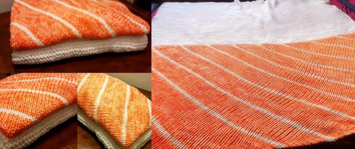 Salmon Sushi blanket