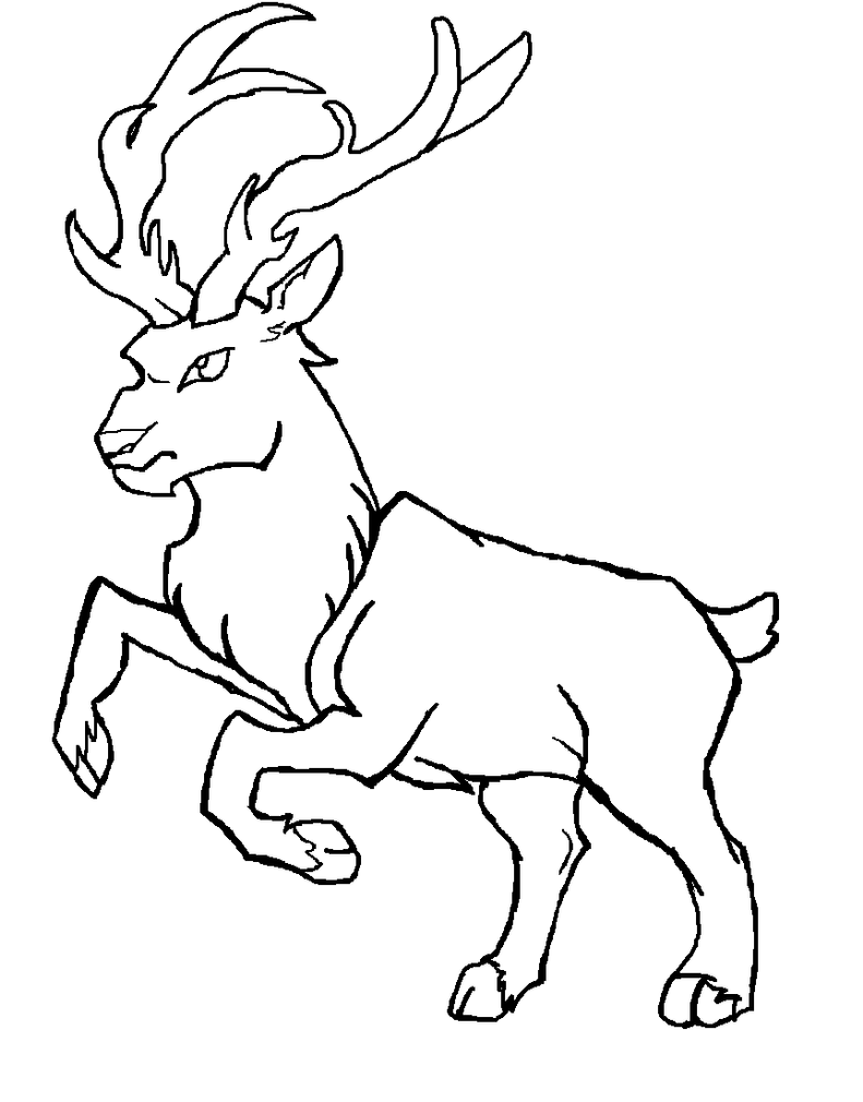 Line Drawing Deer : Deer lineart by evawolferina on deviantart