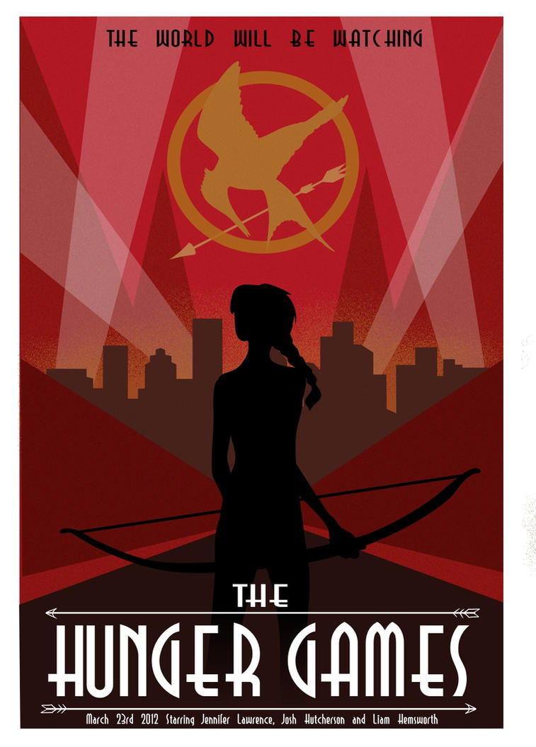The hunger games art deco vector concept poster by ladybug 17 on the hunger games art deco vector concept poster by ladybug 17 voltagebd Image collections