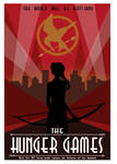 The Hunger Games- Art Deco Vector Concept Poster