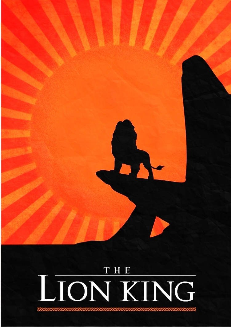 The Lion King - minimalist film poster by Ladybug-17