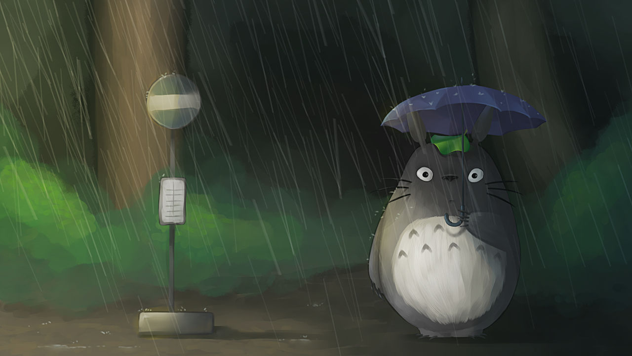 My Neighbor Totoro Waiting For The Bus By Magyk94 On Deviantart
