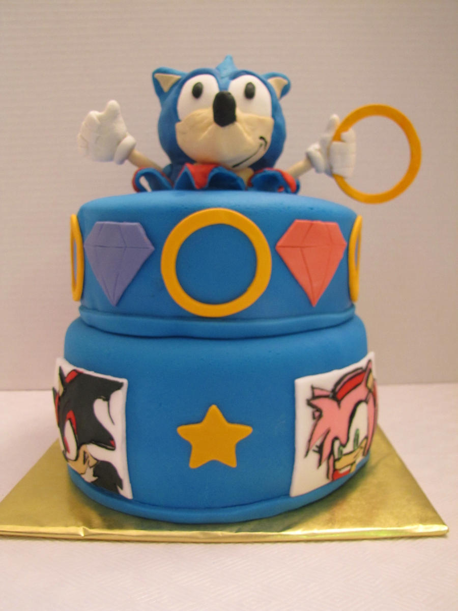 Sonic The Hedgehog Cake By Motherdaughtersweets On Deviantart