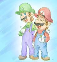 Mario Bro's by Kirafrog