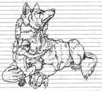 Werewolf cuddling