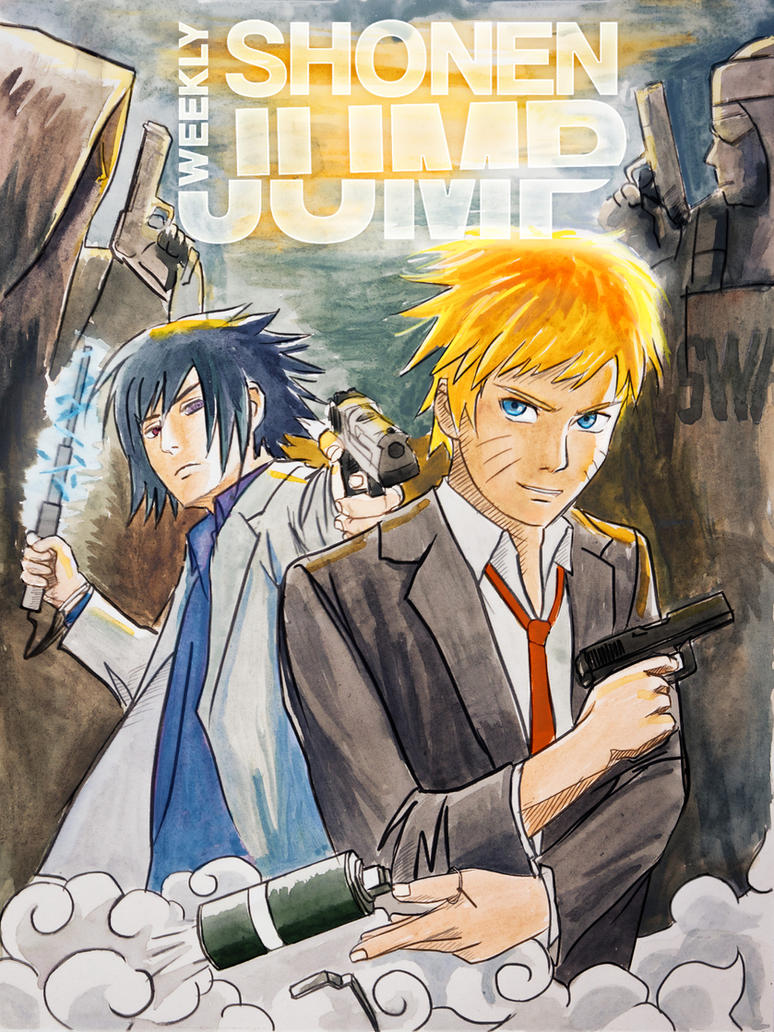 NARUTO WEEKLY SHONEN JUMP COVER by proSetisen