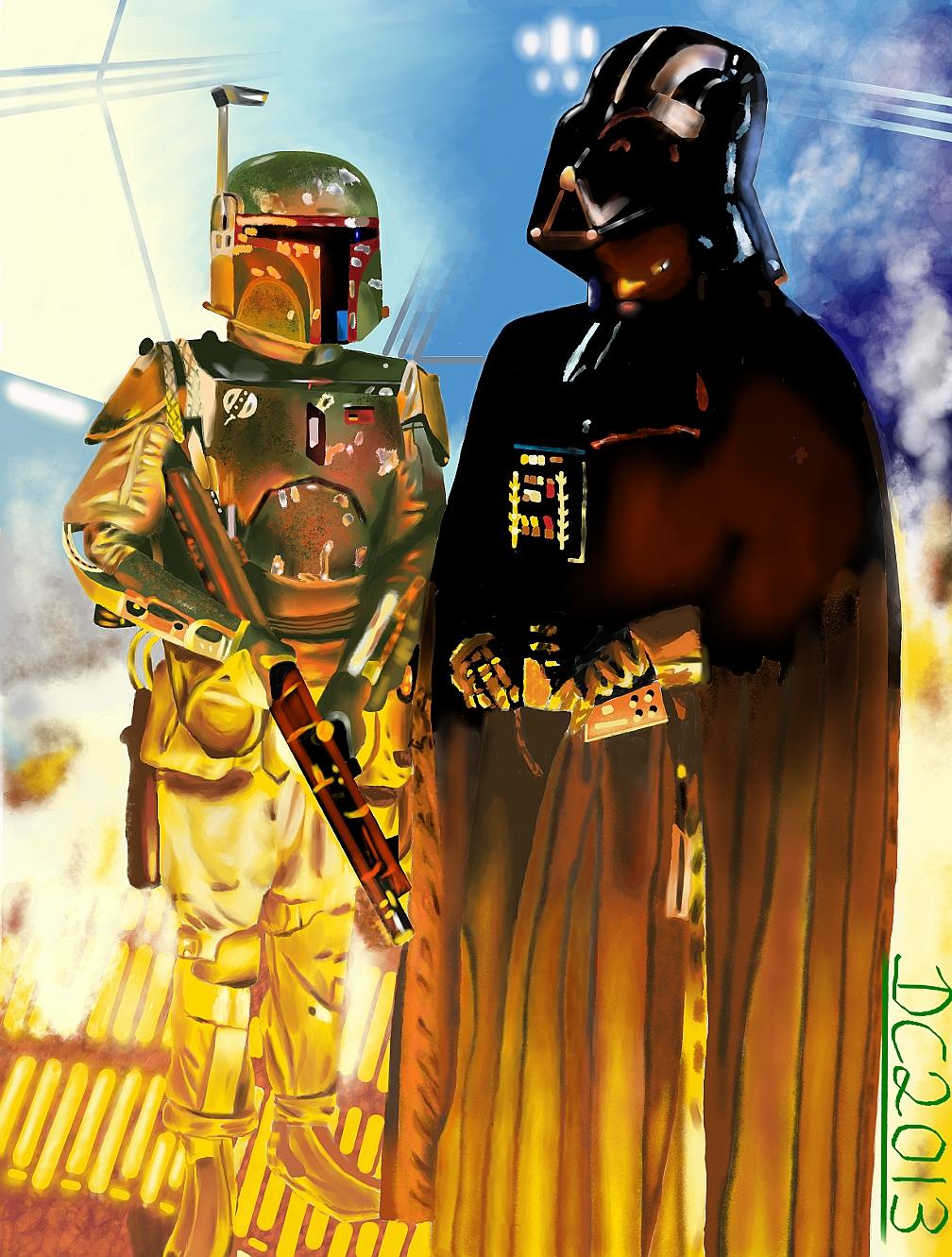 Darth Vader and Boba Fett by David-c2011 on DeviantArt