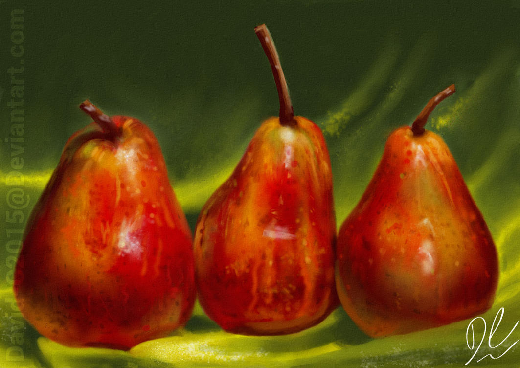 Red Pears by David-c2011