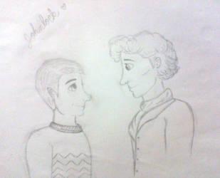 My Johnlock Sketch 01 by MarFitzherbertFletch