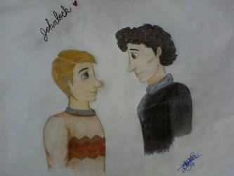 My Johnlock Sketch 02 by MarFitzherbertFletch