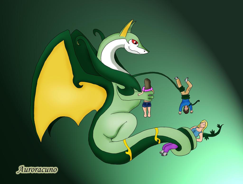 Serperior and dragonair