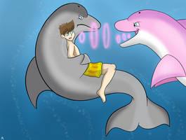Rubber Dolphin Vore - Part 1 by Auroracuno