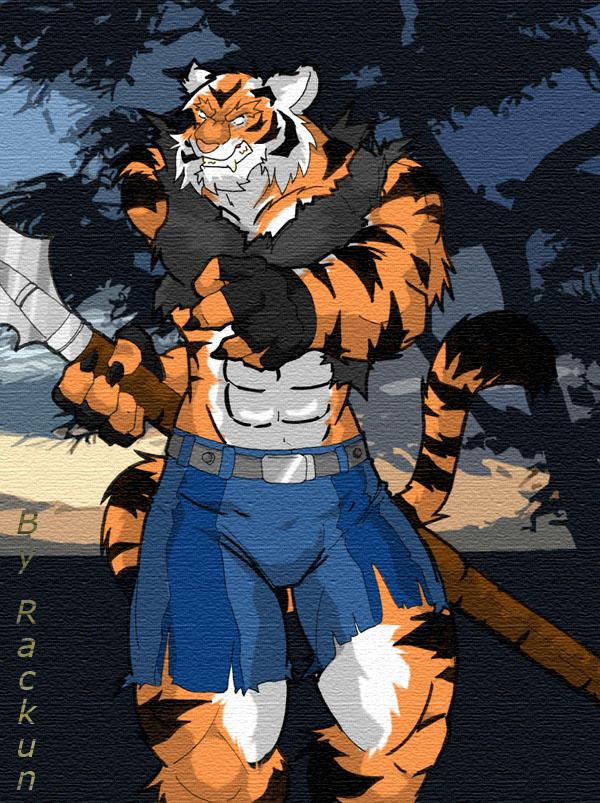 anthropomorphic tiger