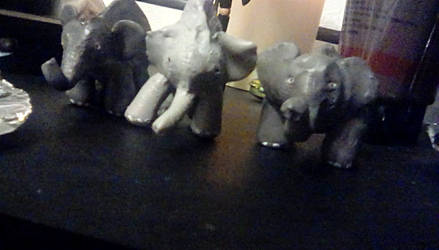 Elephant sculpture4 by TheCrowAtMidnight